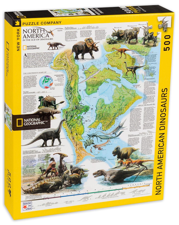 Пъзел New York Puzzle от 500 части - Динозаври, Северна Америка - 2