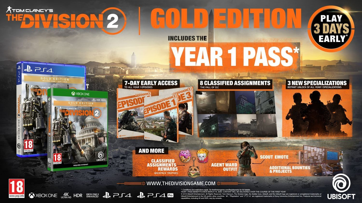 Tom Clancy's The Division 2 Gold Edition (Xbox One) - 4