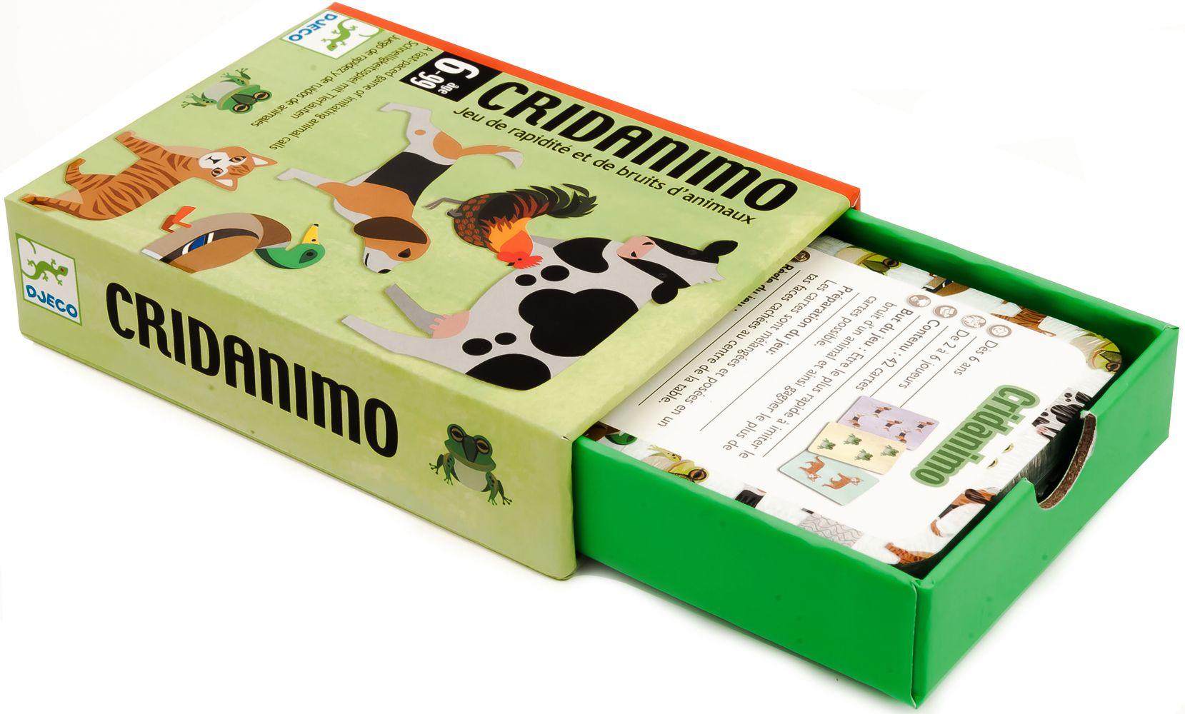Детска игра с карти Djeco - Cridanimo - 2