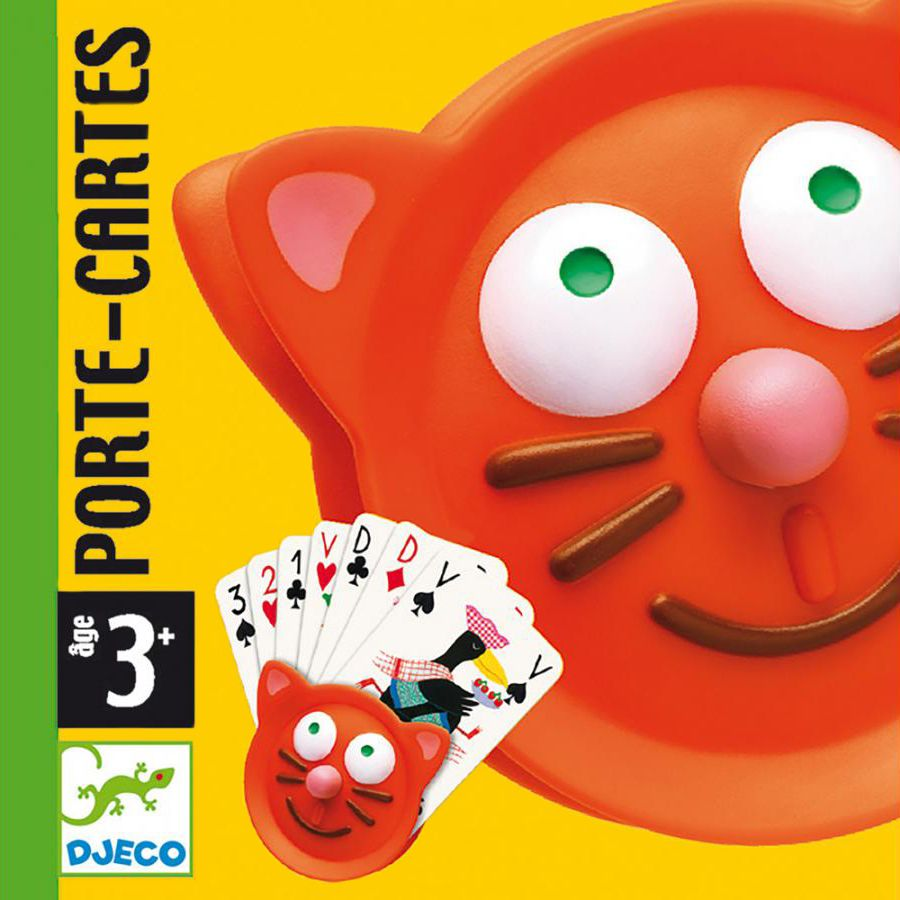 Ръкохватка за карти за игра Djeco - Котка - 3