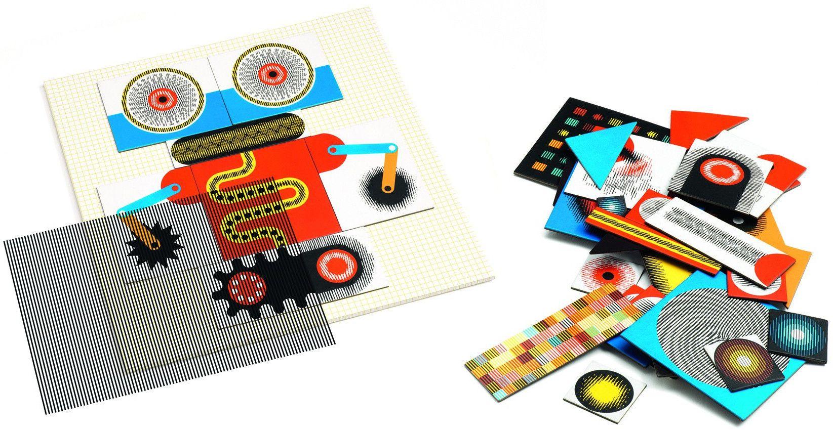 Анимирани картини КинОптик Djeco – Роботи, 60 части - 3