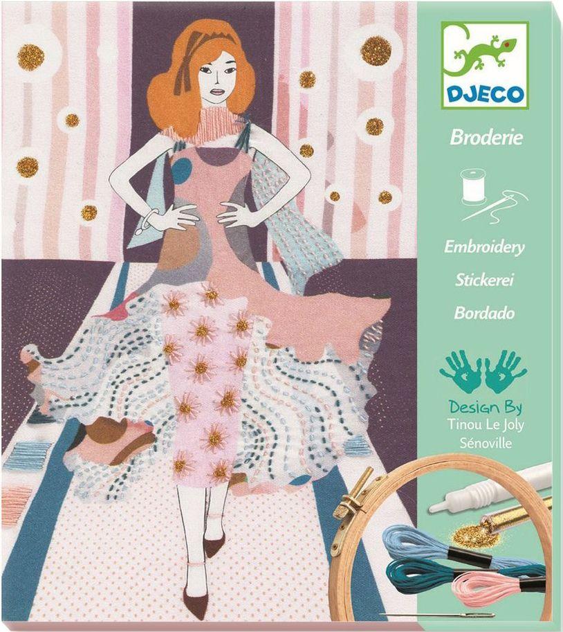 Детски комплект за бродиране Djeco - Седмица на модата - 1