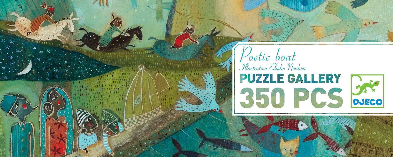 Панорамен пъзел Djeco от 350 части - Поетична лодка - 1