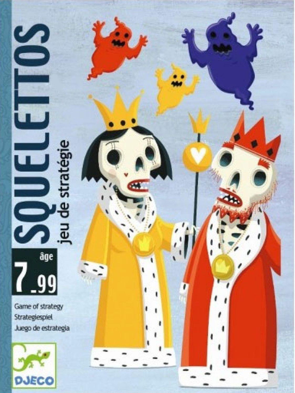 Детска игра с карти Djeco - Скелети - 1