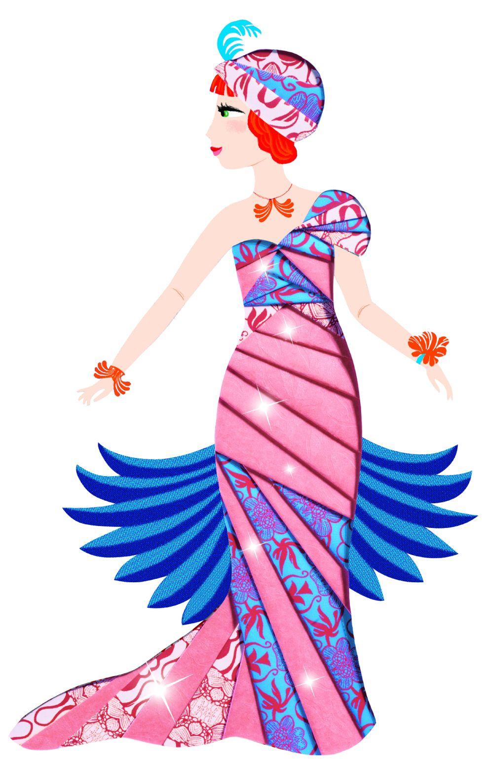Детски комплект Направи сам от хартия Djeco – Разноцветни рокли - 4