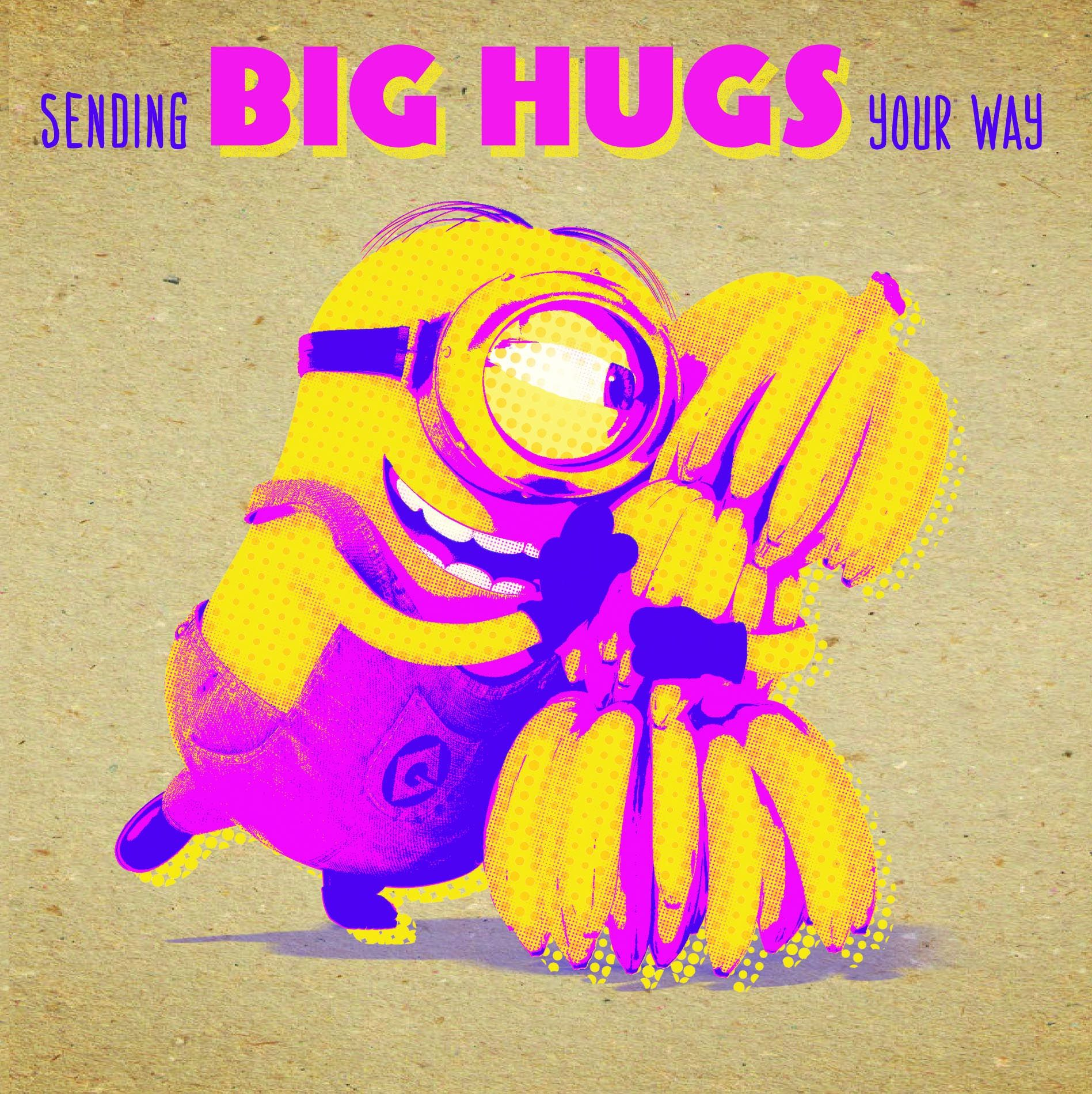 Поздравителна картичка Danilo - Crafty Minions: Big Hugs - 1