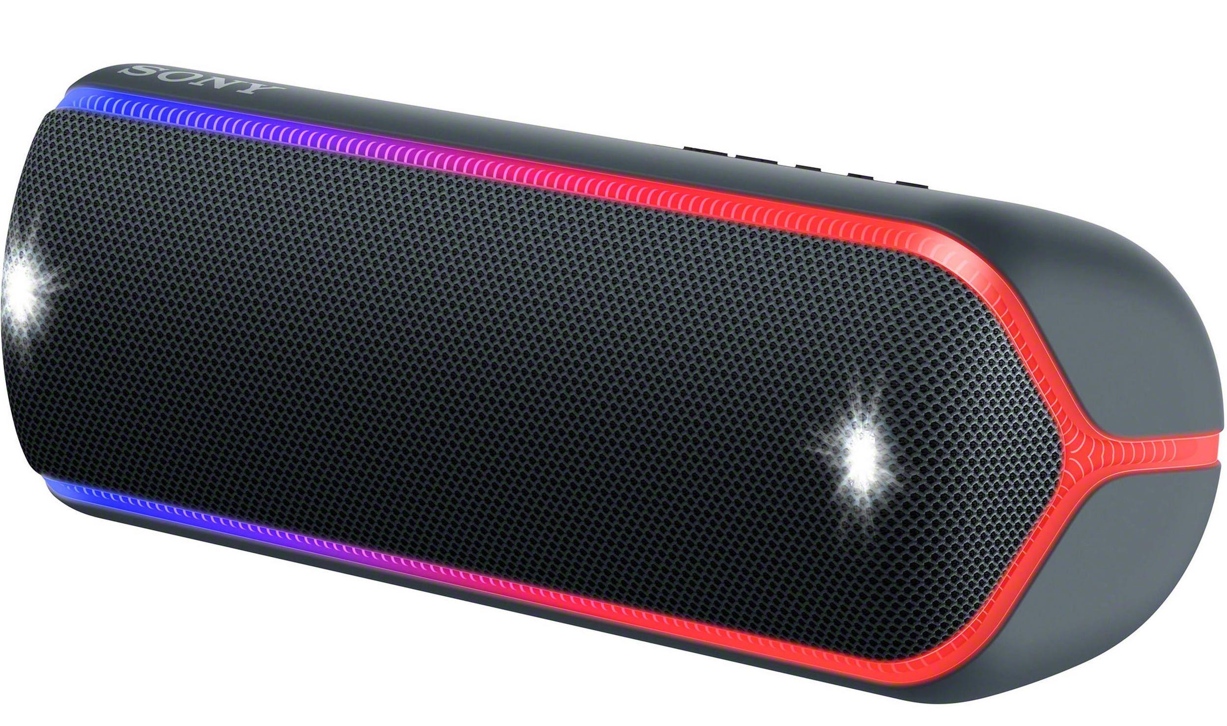 Мини колонка Sony - SRS-XB32, черна - 1