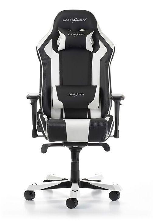 Геймърски стол DXRacer King, черен/бял - OH/KS06/NW - 5