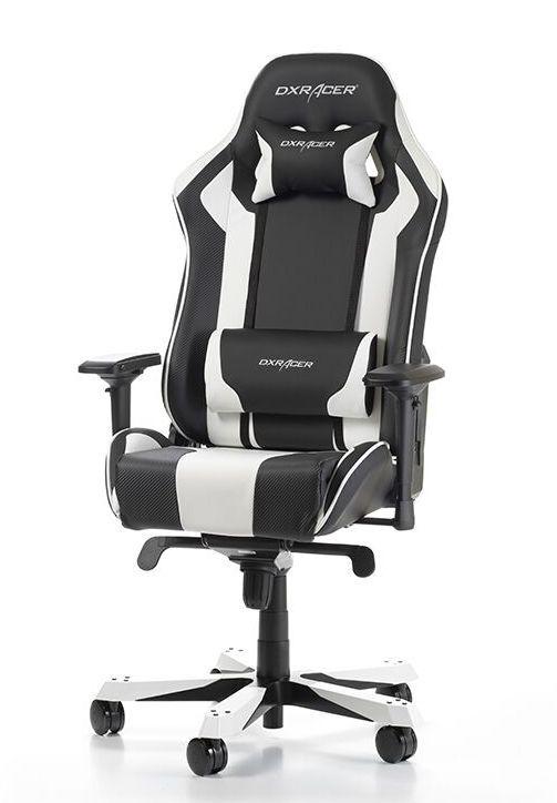Геймърски стол DXRacer King, черен/бял - OH/KS06/NW - 3