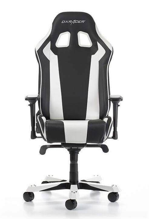 Геймърски стол DXRacer King, черен/бял - OH/KS06/NW - 1