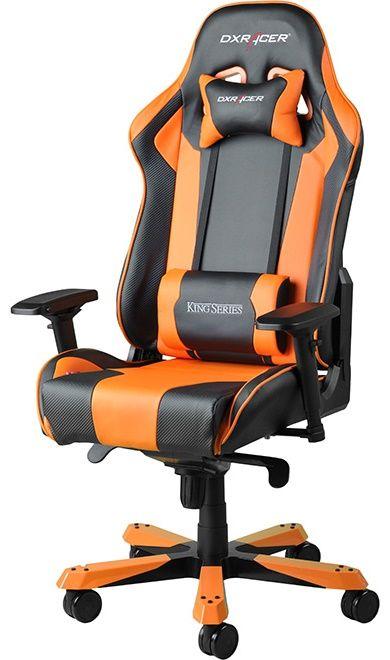 Геймърски стол DXRacer King - черен/оранжев (OH/KF06/NO) - 1