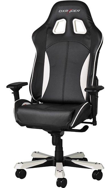 Геймърски стол DXRacer King - черен/бял (OH/KF57/NW) - 7