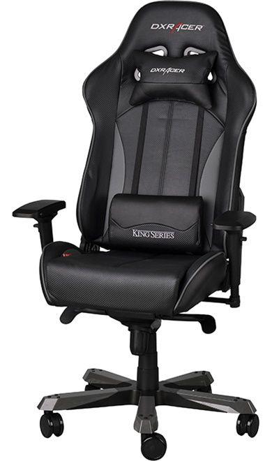 Геймърски стол DXRacer King - черен/сив (OH/KF57/NG) - 4