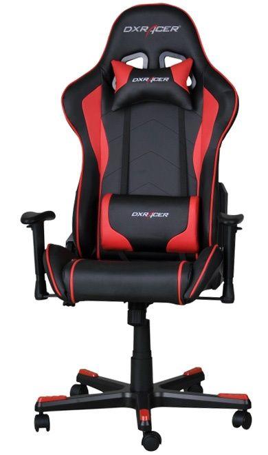 Геймърски стол DXRacer Formula - черен/ червен (OH/FE08/NR) - 1