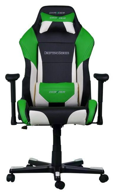 Геймърски стол DXRacer Drifting - черен/зелен/бял OH/DF61/NWE - 10