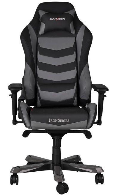 Геймърски стол DXRacer Iron - черен/сив (OH/IF166/NG) - 3