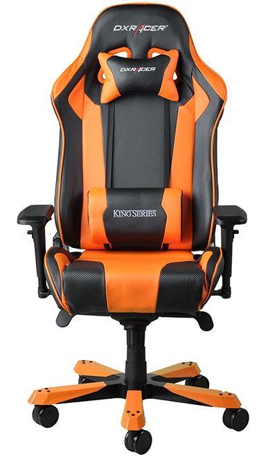 Геймърски стол DXRacer King - черен/оранжев (OH/KF06/NO) - 5