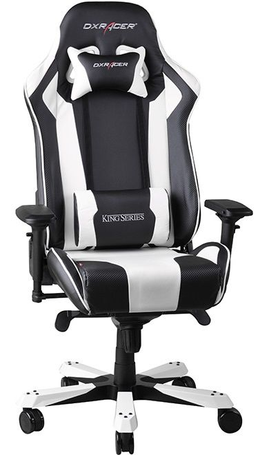 Геймърски стол DXRacer King - черен/бял (OH/KF06/NW) - 8