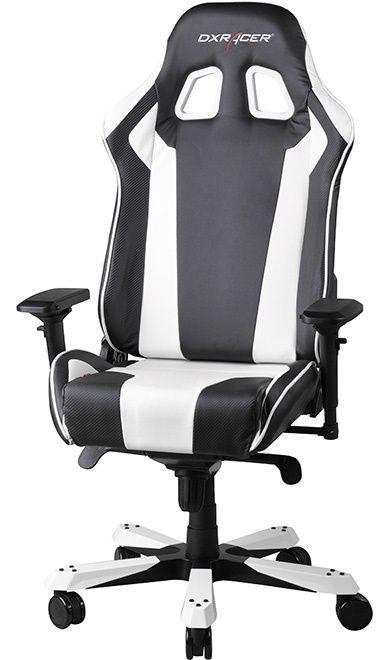 Геймърски стол DXRacer King - черен/бял (OH/KF06/NW) - 3