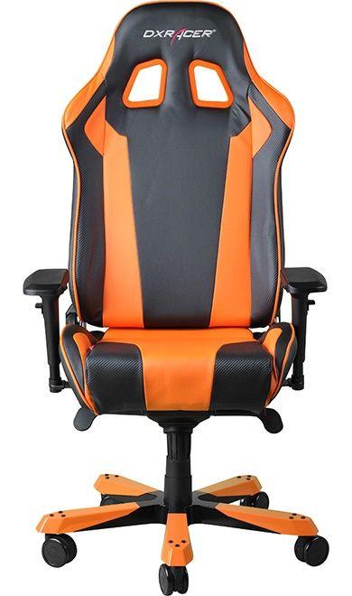 Геймърски стол DXRacer King - черен/оранжев (OH/KF06/NO) - 6