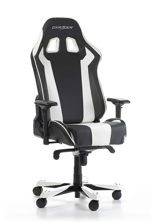 Геймърски стол DXRacer King, черен/бял - OH/KS06/NW - 2