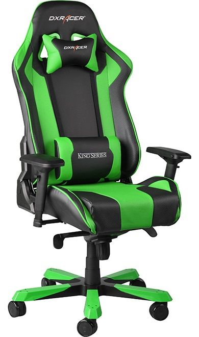 Геймърски стол DXRacer King - черен/зелен (OH/KF06/NE) - 9