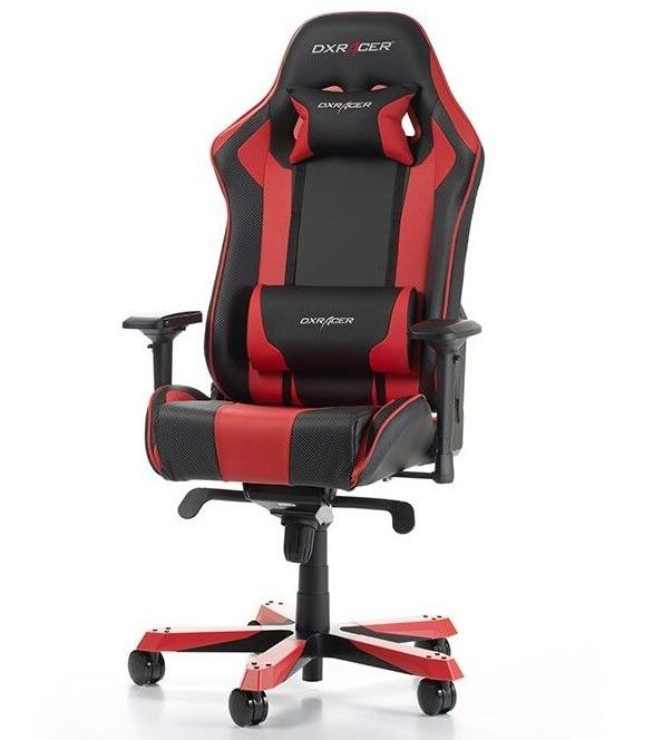 Гейминг стол DXRacer OH/KS06/NR - серия King, черен/червен (разопакован) - 1