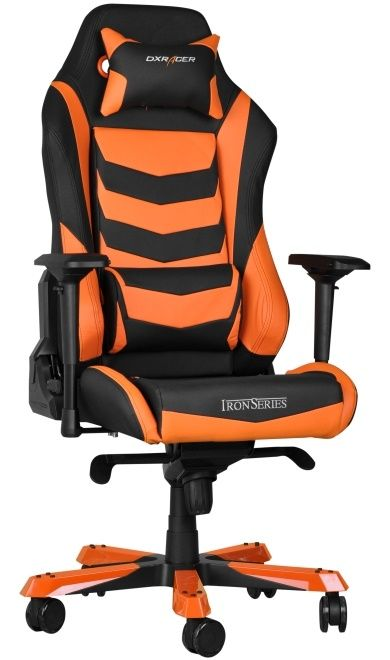 Геймърски стол DXRacer Iron - черен/оранжев (OH/IS166/NO) - 2