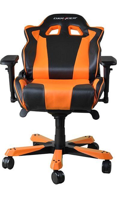 Геймърски стол DXRacer King - черен/оранжев (OH/KF06/NO) - 14