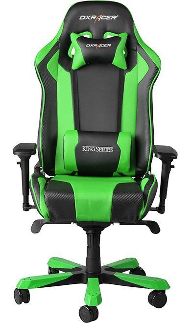 Геймърски стол DXRacer King - черен/зелен (OH/KF06/NE) - 3