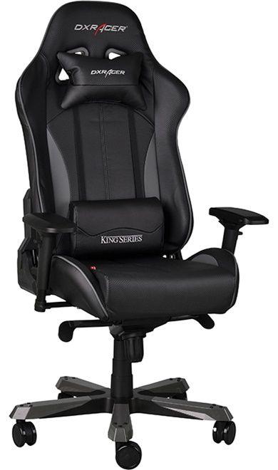 Геймърски стол DXRacer King - черен/сив (OH/KF57/NG) - 12