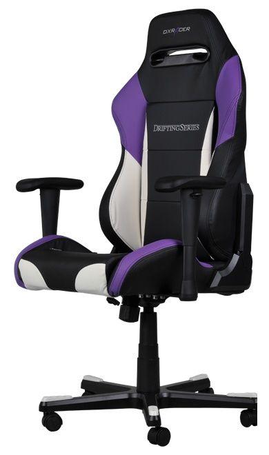 Геймърски стол DXRacer Drifting - черен/лилав/бял (OH/DF61/NWV) - 4