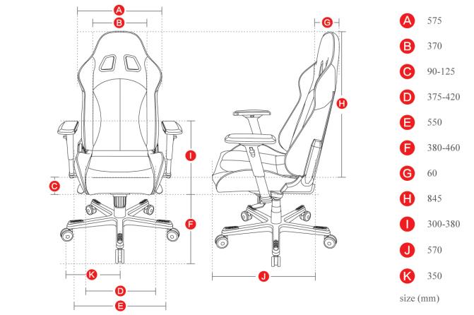 Геймърски стол DXRacer King - черен/оранжев (OH/KF06/NO) - 2