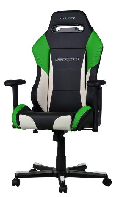 Геймърски стол DXRacer Drifting - черен/зелен/бял OH/DF61/NWE - 11