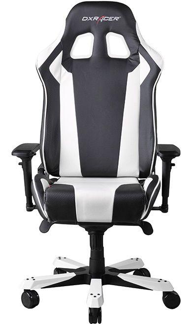 Геймърски стол DXRacer King - черен/бял (OH/KF06/NW) - 6