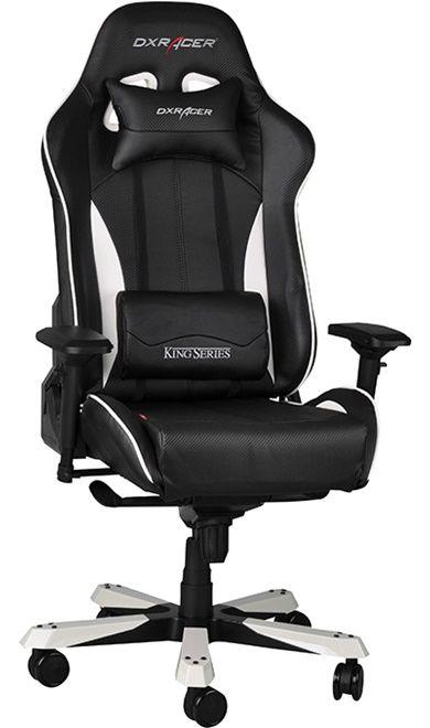 Геймърски стол DXRacer King - черен/бял (OH/KF57/NW) - 10