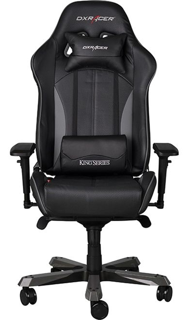 Геймърски стол DXRacer King - черен/сив (OH/KF57/NG) - 11