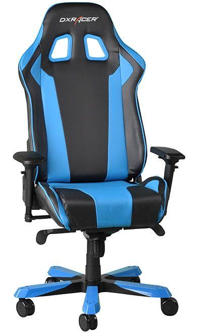Геймърски стол DXRacer King - черен/син (OH/KF06/NB) - 10