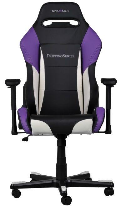 Геймърски стол DXRacer Drifting - черен/лилав/бял (OH/DF61/NWV) - 5