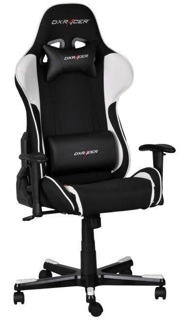 Геймърски стол DXRacer Formula - черен/бял (OH/FE11/NW) - 5