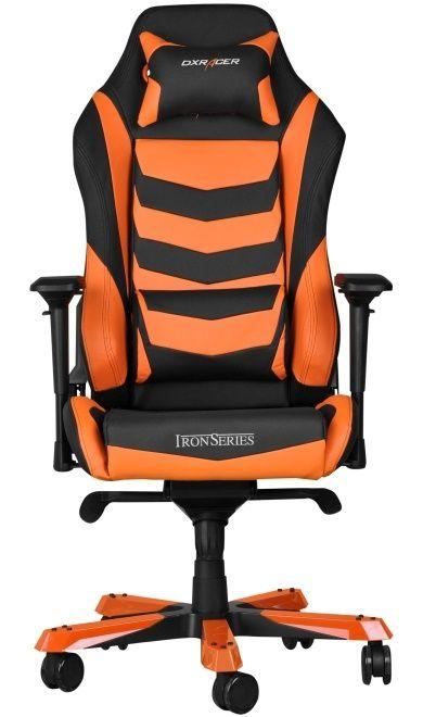 Геймърски стол DXRacer Iron - черен/оранжев (OH/IS166/NO) - 3