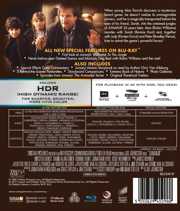 Jumanji (1995) (4K UHD + Blu-ray) - 2