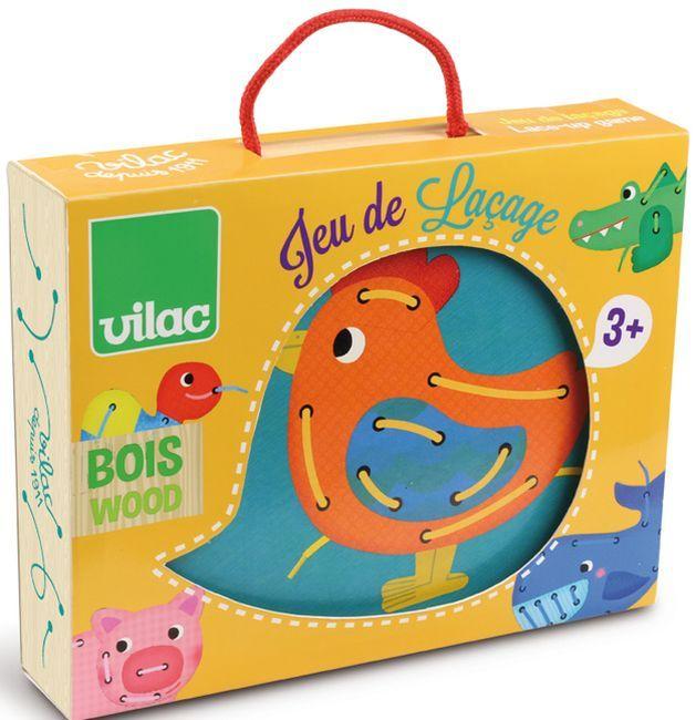 Играчка за нанизване на животни Vilac - 1