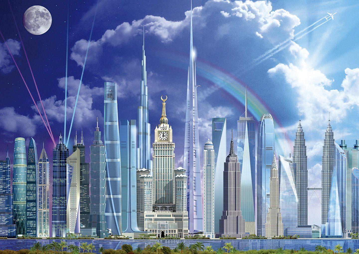 Пъзел Educa от 1000 части - Най-високите сгради в света, Гари Уолтън - 2