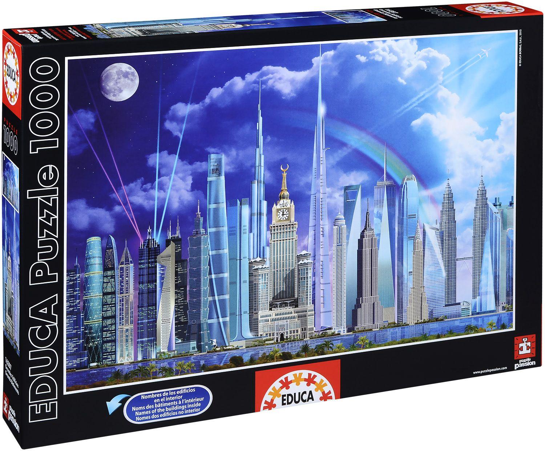 Пъзел Educa от 1000 части - Най-високите сгради в света, Гари Уолтън - 1