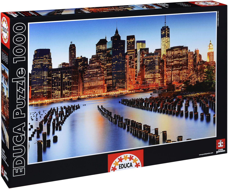 Пъзел Educa от 1000 части - Градът на небостъргачите - 1