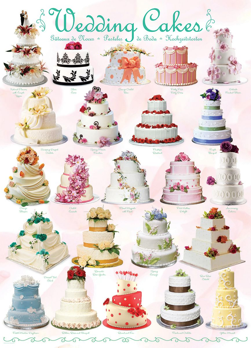 Пъзел Eurographics от 1000 части –  Сватбени торти - 2