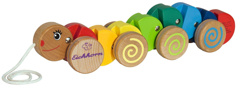 Детска играчка за дърпане Eichhorn - Гъсеница - 1