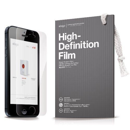 Elago S5 Leather Flip Case за iPhone 5 -  черен - 5