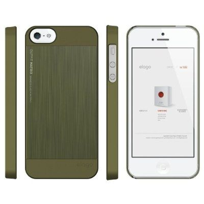Elago S5 Outfit Matrix Aluminum + HD Clear Film за iPhone 5 -  зелен - 2